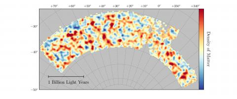 Map of Dark Matter Made from Gravitational Lensing